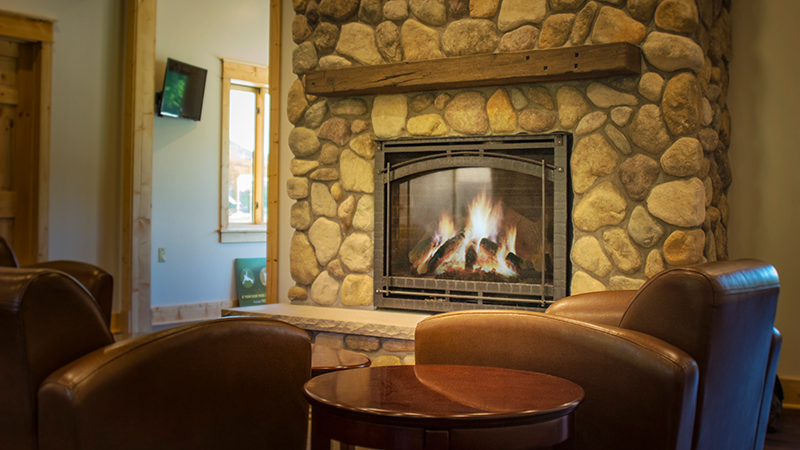 Cozy up inside our Welcome Center