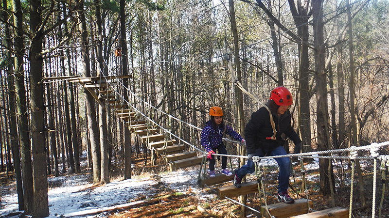Winter High Ropes