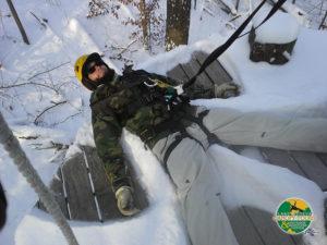 Zip Line Snow Angel